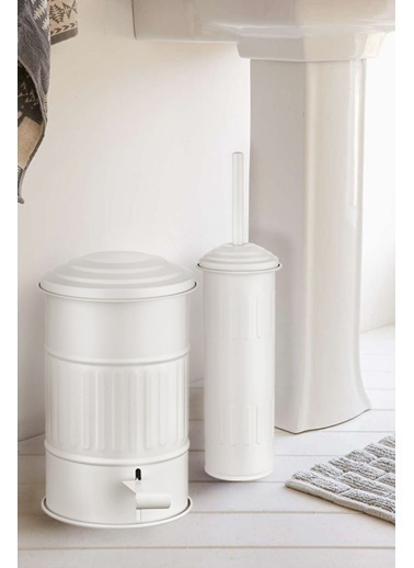 The Mia Çöp Kovası Banyo 5 Lt - Beyaz Beyaz